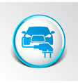 Electric car plug icon eco fuel vector image