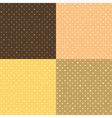 Set Orange Yellow Star Polka dot vector image