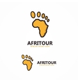 Abstract africa logo vector image