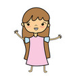 beauty girl with clothes and hairstyle design vector image