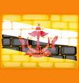 brunei flag painted on brickwall vector image