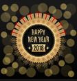 golden new year 2018 vector image