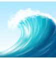 realistic sea big wave vector image