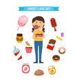 sweet party set vector image