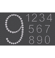 Diamond number set from 1 to 9 vector image vector image