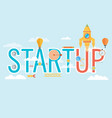 start up concept composition - flat design vector image