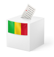 Ballot box with voting paper Mali vector image vector image