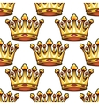 Seamless pattern of medieval royal crowns vector image vector image