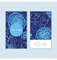 blue night flowers vertical round frame pattern vector image vector image