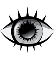 black and white The human eye vector image