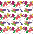 vegetables pattern background vector image vector image