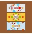 Back to school horizontal banners vector image