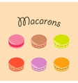 Colorful macaroons flavors vector image
