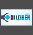 creative children community logo design for brand vector image