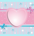 Heart with bow vector image