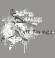 Hit the ball vector image