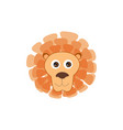 lion head animal lion face cartoon isolated baby vector image
