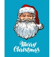 Portrait Santa Claus Merry Christmas greeting vector image