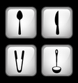 set cutlery vector image