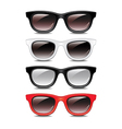 set glasses vector image