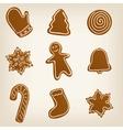 Set of Christmas cookies vector image