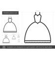 wedding dress line icon vector image
