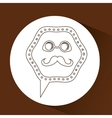 concept hipster retro style mustache with glasses vector image