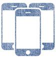 smartphones fabric textured icon vector image