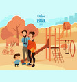 people relax and walking in urban park vector image