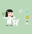 dental health care - dentist and tooth vector image