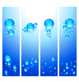 vertical banners bubbles vector image vector image