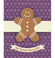 Gingerbread Cookie Background vector image