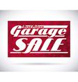 garage sale design vector image