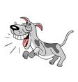 cartoon dog barks vector image vector image