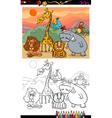 safari animals coloring page vector image vector image