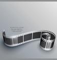 3d camera film strip background vector image