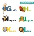 Animal alphabet vector image