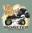 monster big wheels vector image