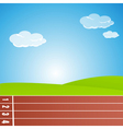 racing track vector image