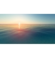 realistic sunset and sea water vector image