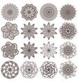 set of mandalas isolated on white vector image