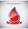 world blood donor day image vector image