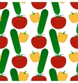 Vegetables flat seamless pattern vector image