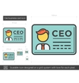 CEO business card line icon vector image