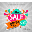 Big Sale - limited time vector image vector image