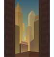 Big city background vector image vector image