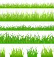 grassy borders vector image vector image