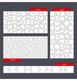 Puzzle Templates vector image vector image