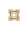 square decorative ornament logo vector image