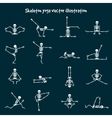 Skeleton yoga vector image vector image